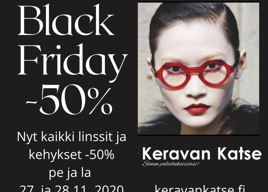 Kaikki -50% – Black Friday tarjous